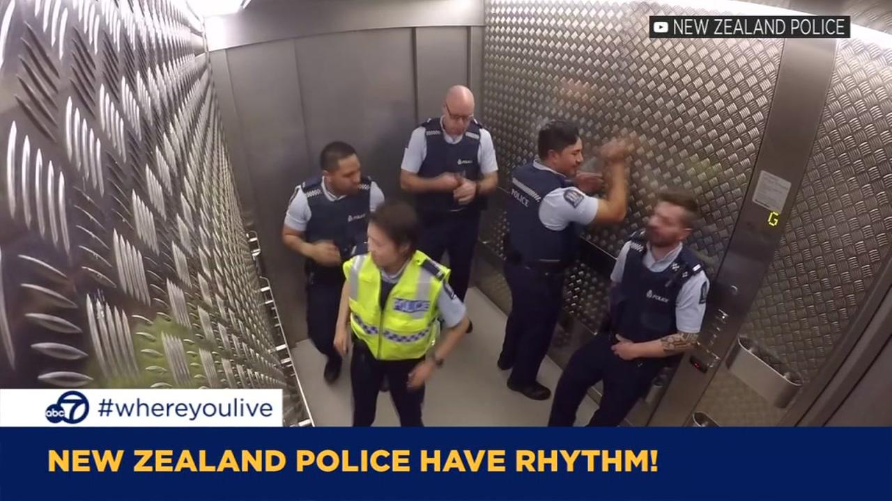 KNOW AND TELL: New Zealand police have rhythm