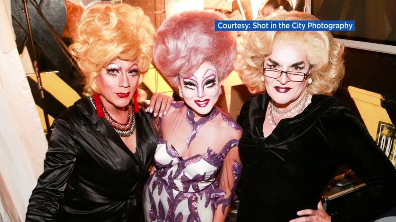 Jane Kim is seen dressed as a drag queen in this undated image.