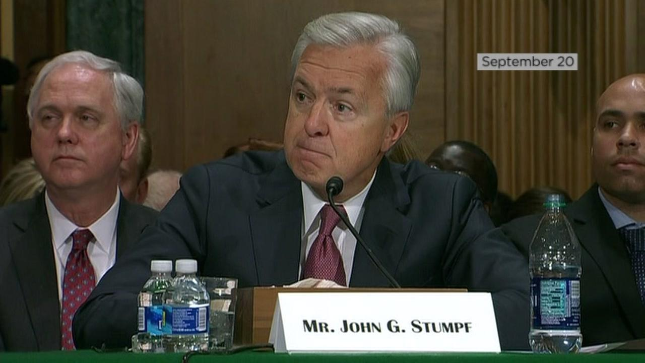 This image shows former Wells Fargo CEO John Stumpf during a S September hearing.
