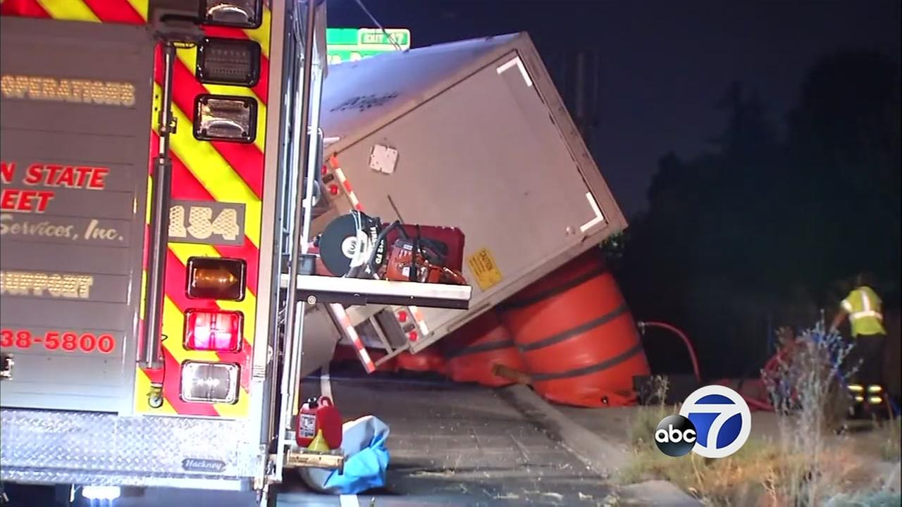 KNOW AND TELL: Inflatable bags help flip truck upright