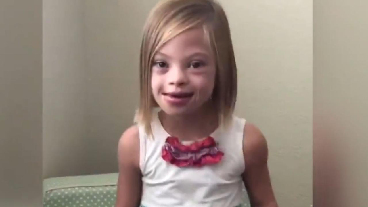 A young girl has an inspiring message about Down syndrome.