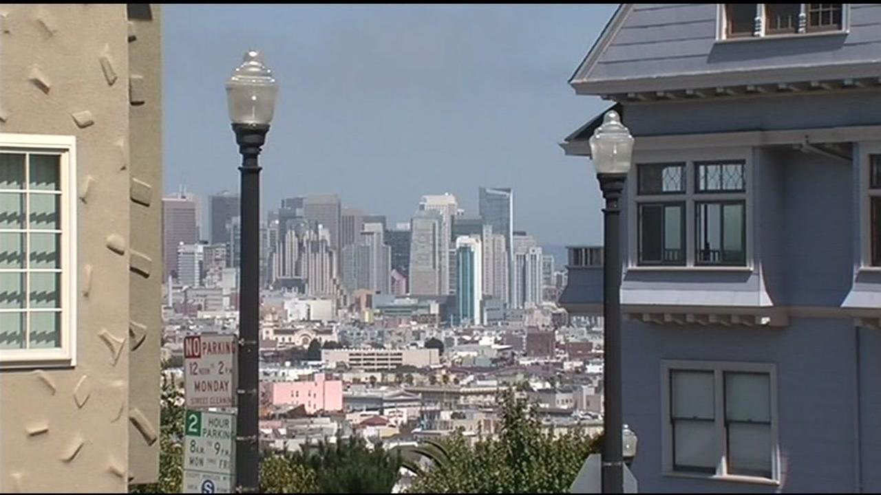 A wide shot of San Francisco is seen in this undated image.