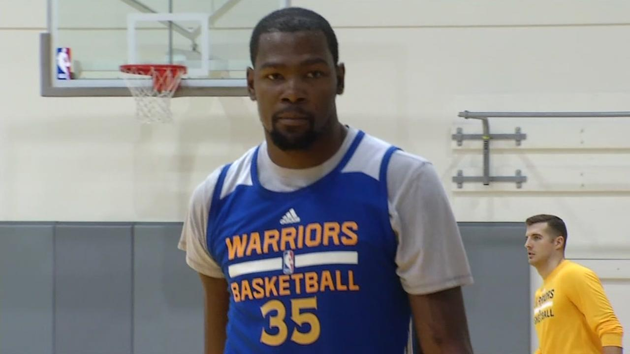 This undated image shows Kevin Durant of the Golden State Warriors.