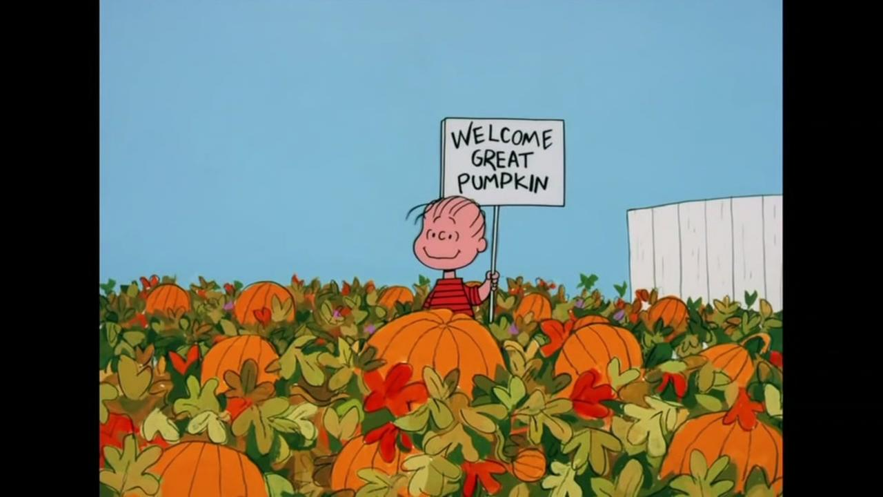 A scene from Its the Great Pumpkin, Charlie Brown is seen in this image.