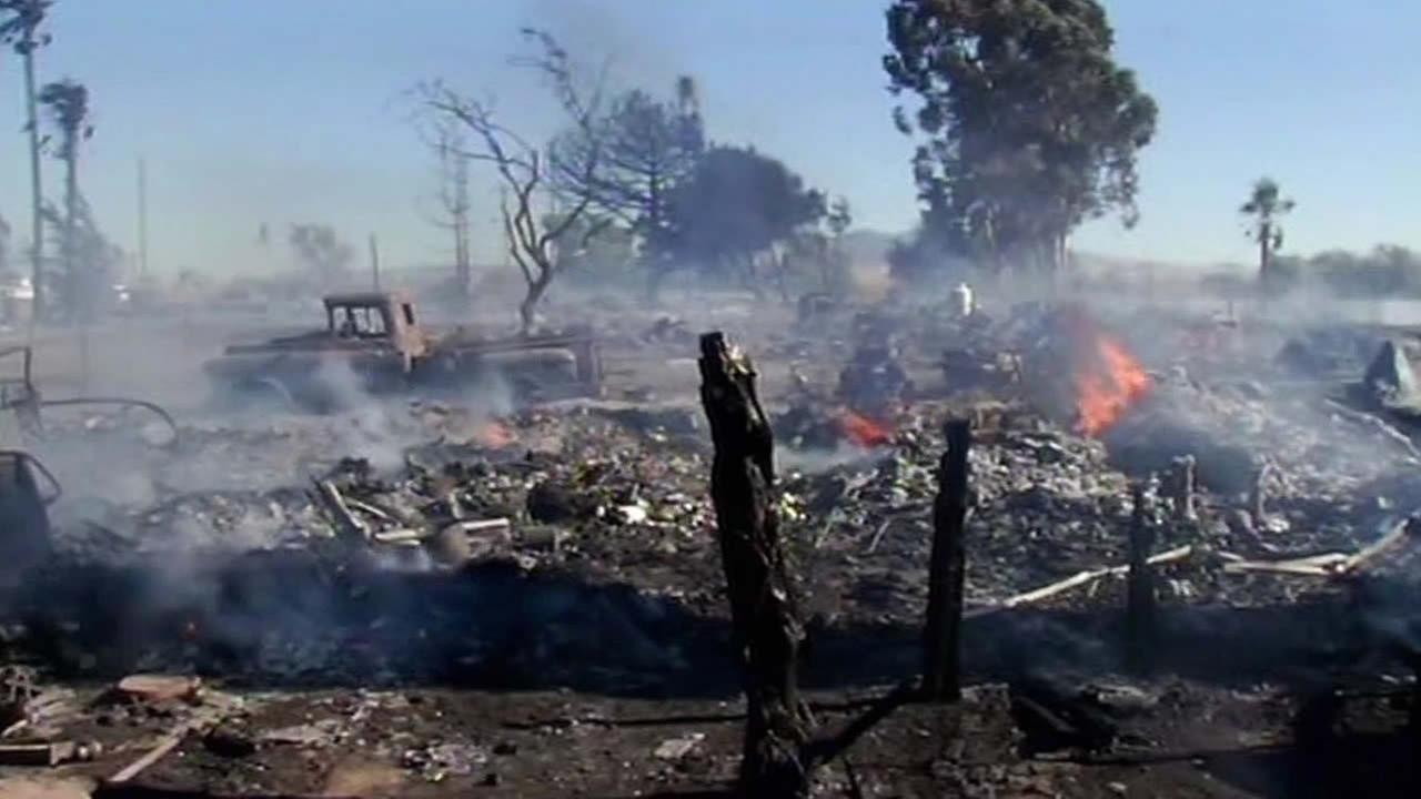 Solano County fire home burned down