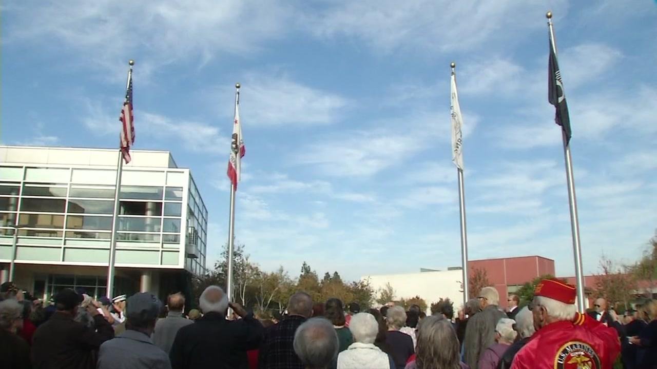 Veterans Day event in Milpitas, California, Friday, November 11, 2016.
