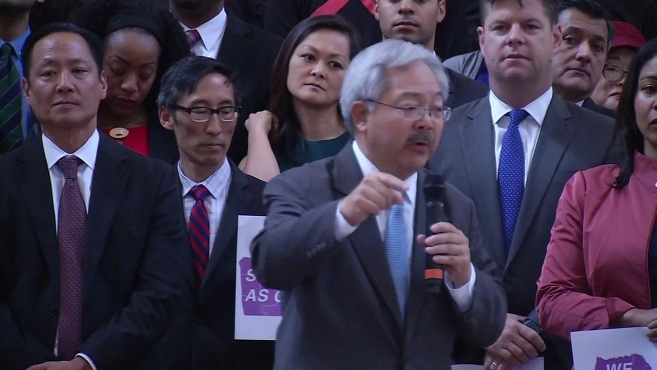 San Francisco Mayor Ed Lee is seen at city hall on Monday, November 14, 2016.