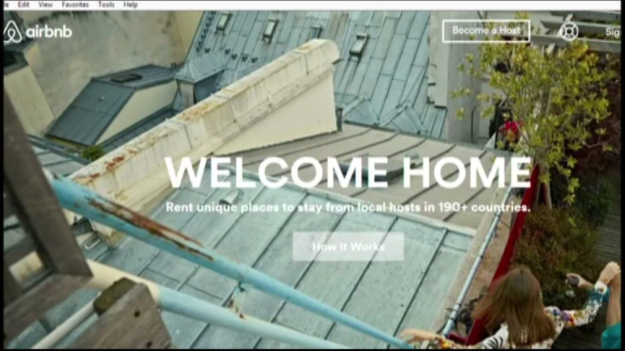 This is an undated image of the Airbnb landing page.