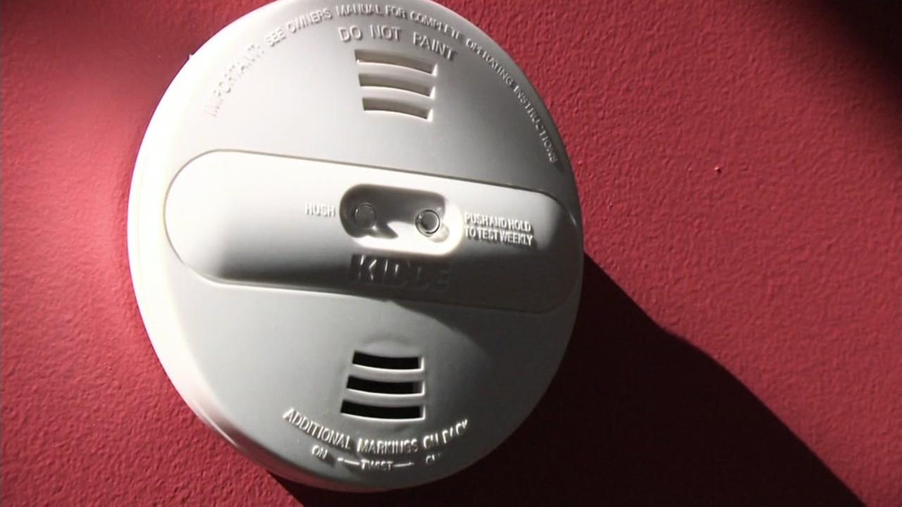 A smoke alarm is seen in this undated image.