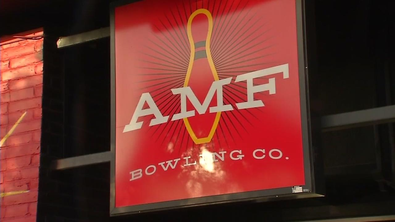This is an undated image of the sign outside AMF South Shore Lanes in Alameda, Calif.