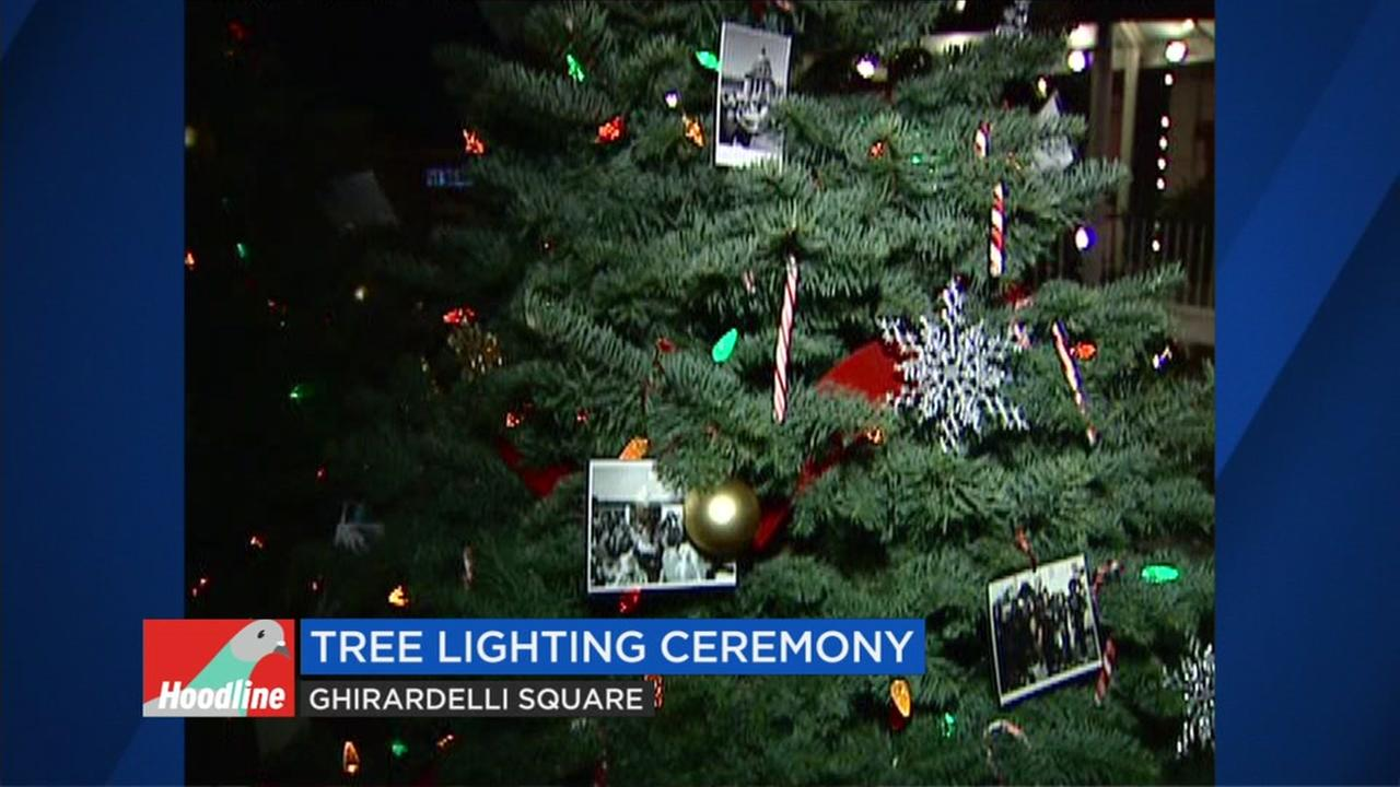 Ghirardelli square tree lighting tops Thanksgiving events in San Francisco