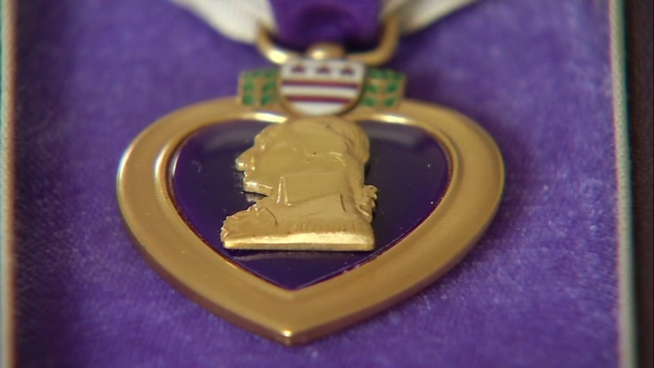 A Purple Heart is seen in this undated image.