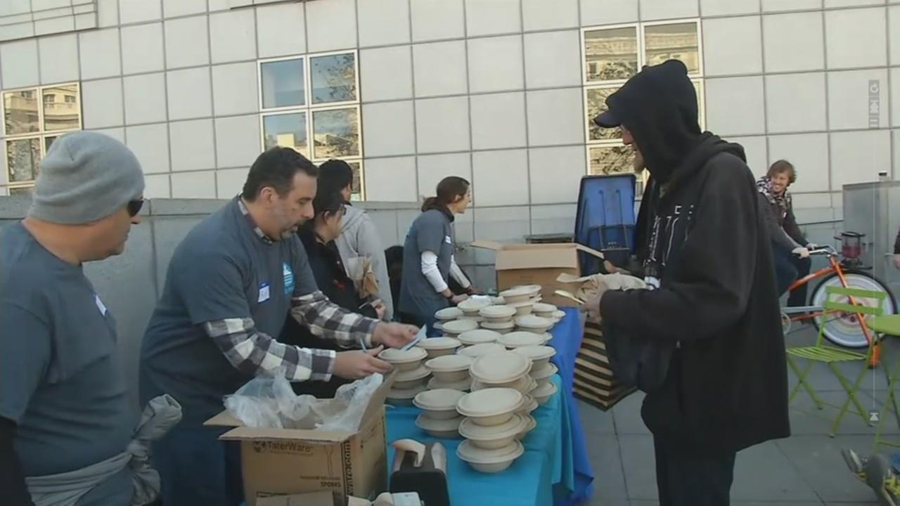 Charity holds food distribution.