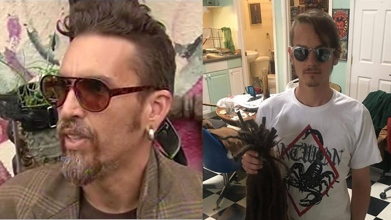 This is an undated split image of Derick Ion Almena and Jon Hrabko.