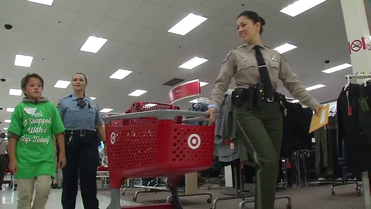 The annual Shop with a Cop event took place at Target in San Jose, California, Thursday, December 8, 2016.