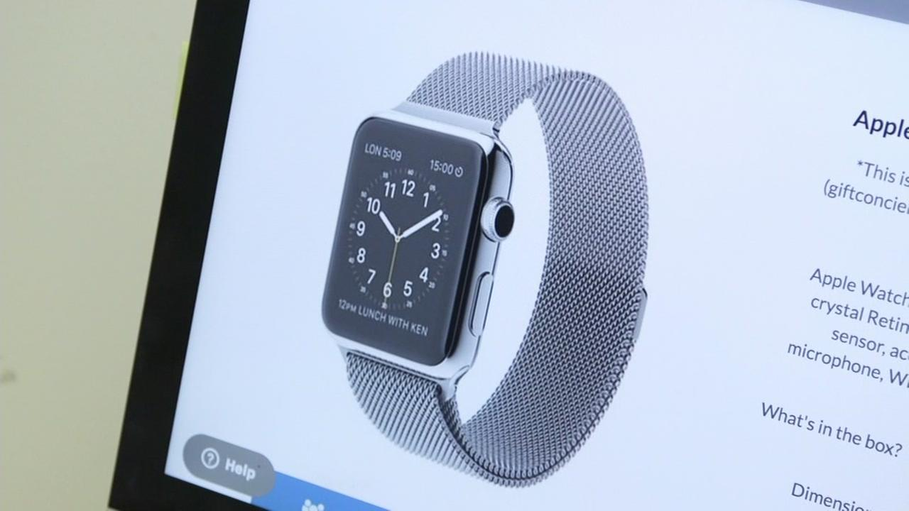 Apple Watch on computer screen