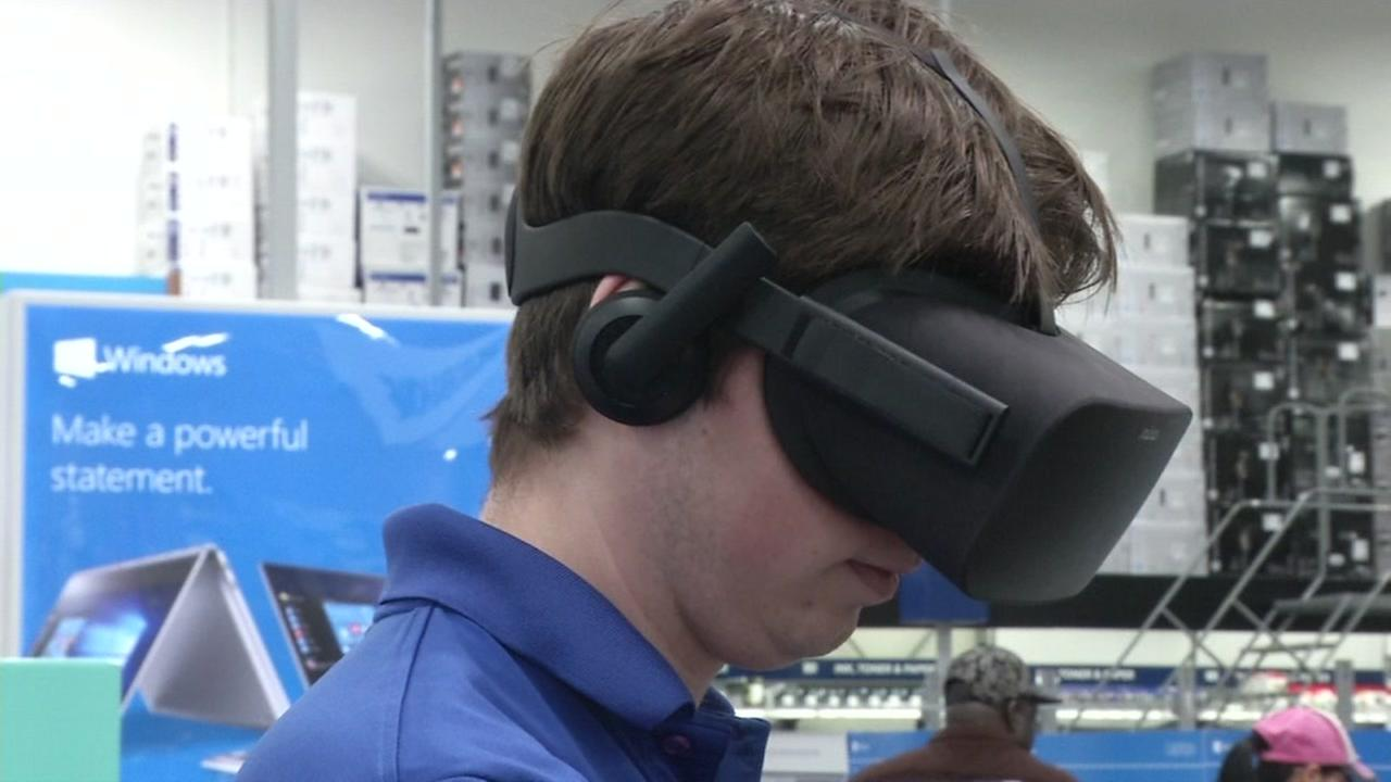 A man is seen wearing a VR headset in this undated image.