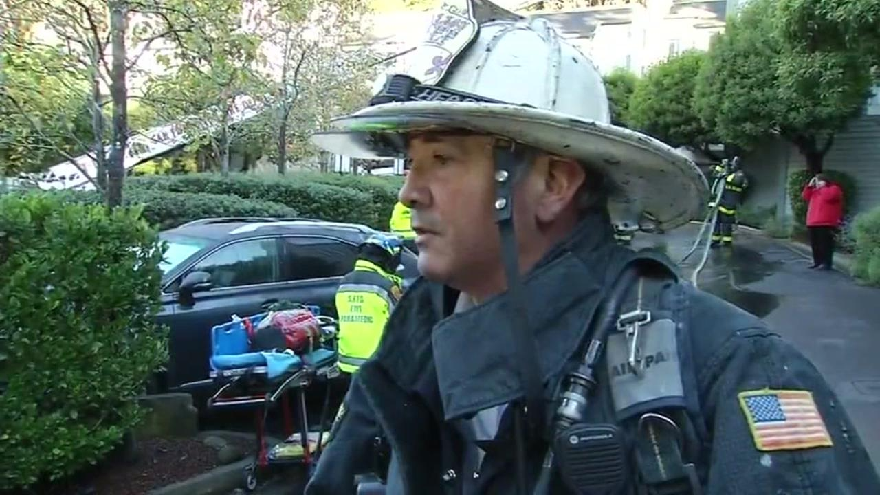Firefighters find woman inside burning condo in San Francisco