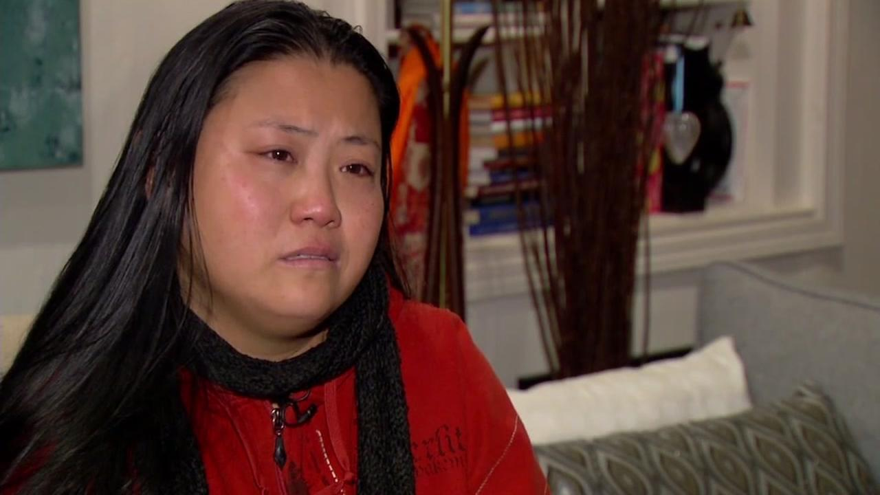 Dorothy Mak mourns the loss of her boyfriend in an interview with ABC7 News in San Francisco on Jan. 6, 2017.
