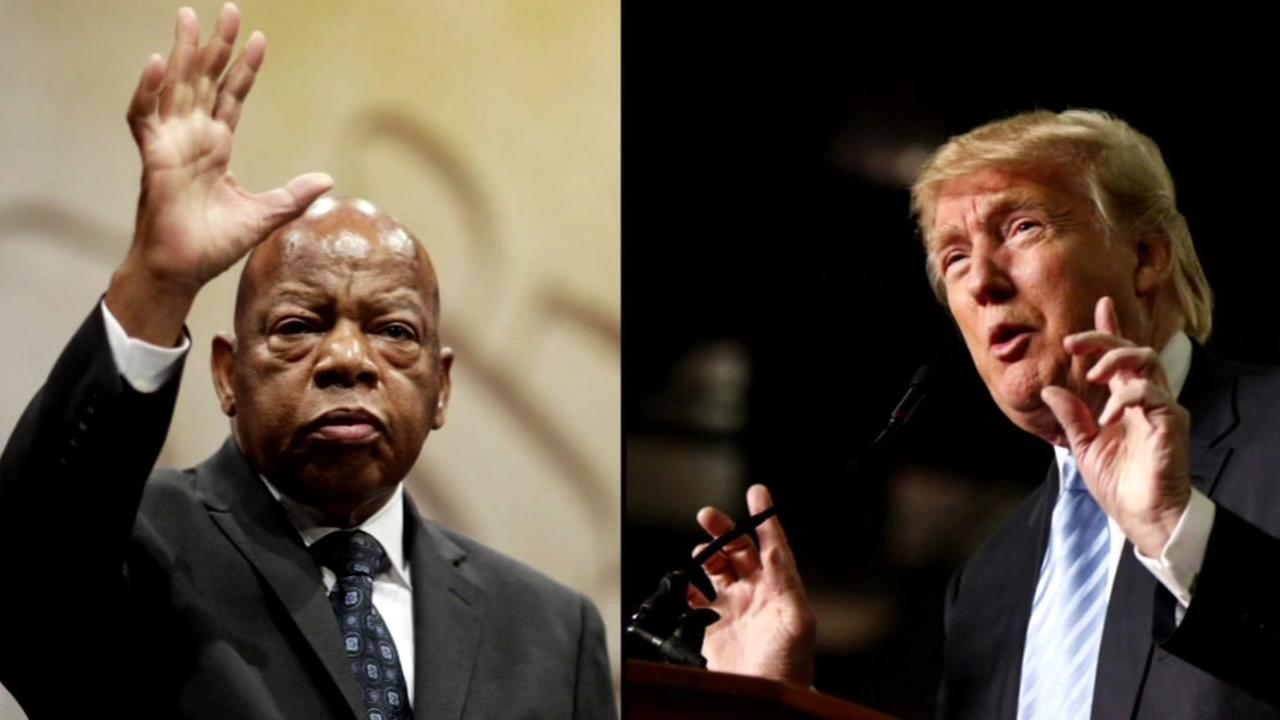 Representative John Lewis and President-elect Donald Trump are seen in this undated image.