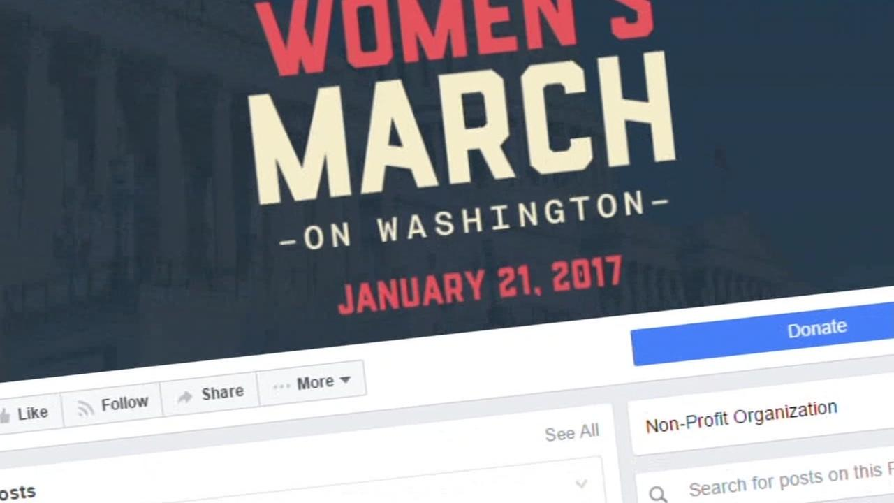 The Womens March website is seen in this undated image.