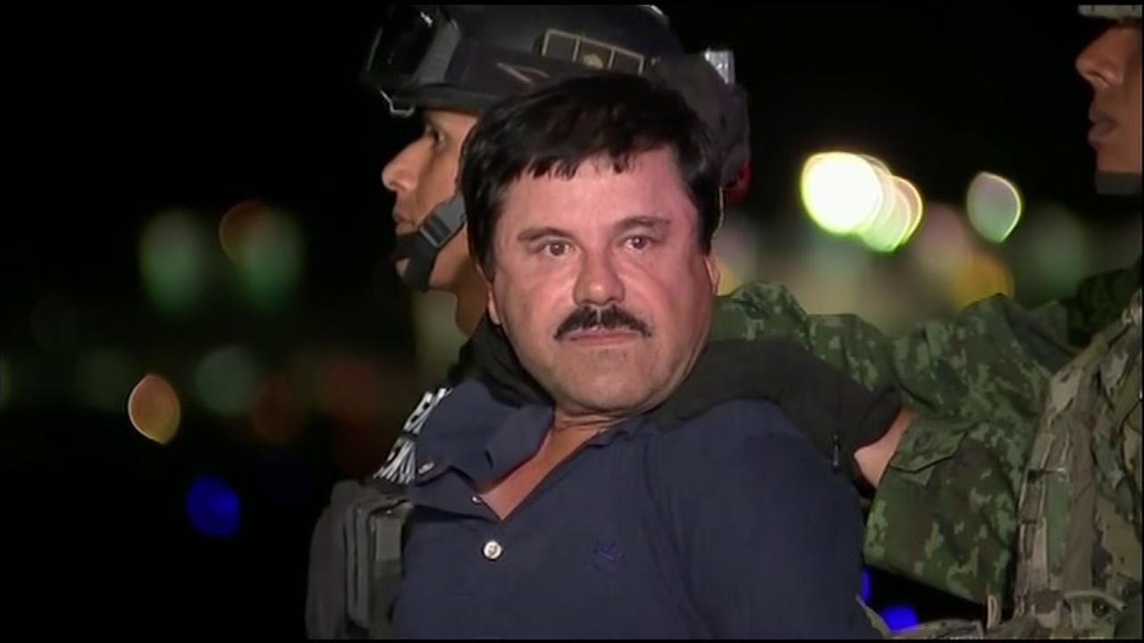 Mexican drug lord El Chapo Guzman is seen in this undated image.