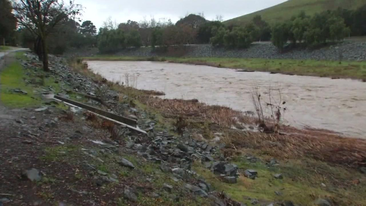 San Anselmo Creek is shown on Jan. 23, 2017.