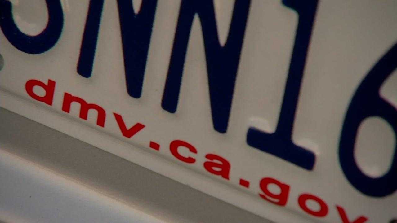 This is an undated image of a California license plate.