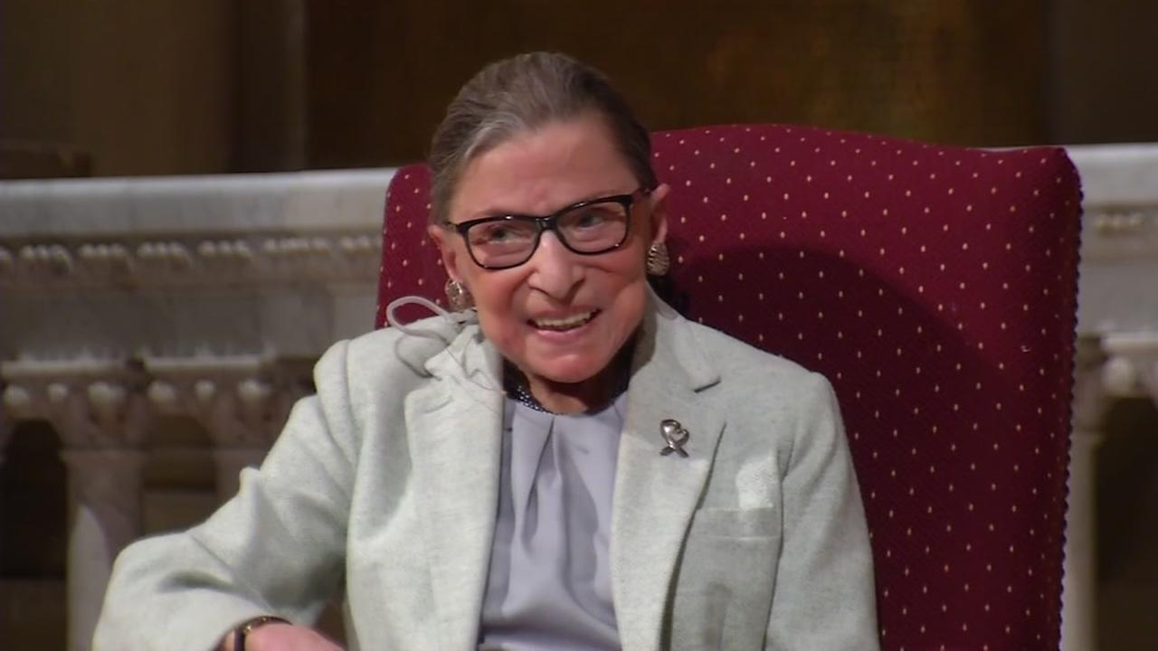 Supreme Court Justice Ruth Bader Ginsburg appears at Stanford University in Stanford, Calif. on Feb. 6, 2017.