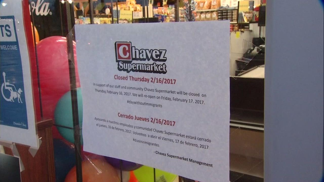 A sign announcing a one day closure of Chavez Supermarkets is seen in San Jose, Calif. in this undated image.