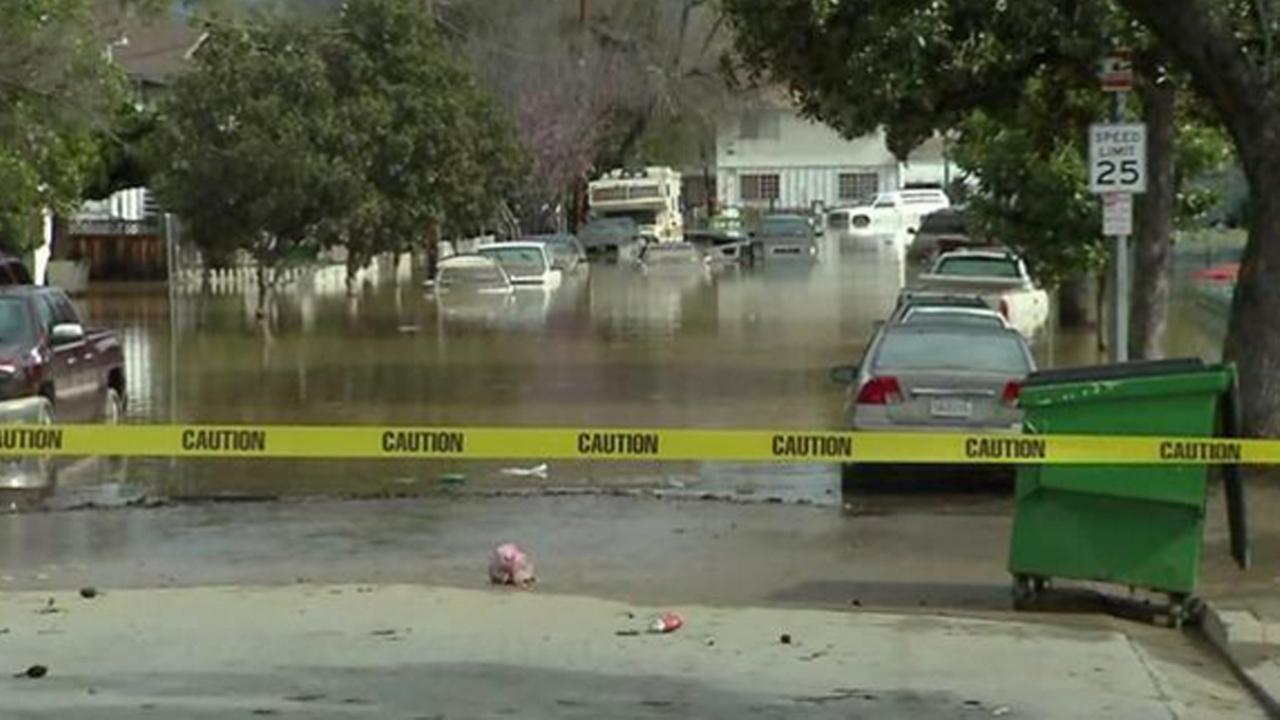 Flood damage in San Jose California, Wednesday, February 22, 2017.
