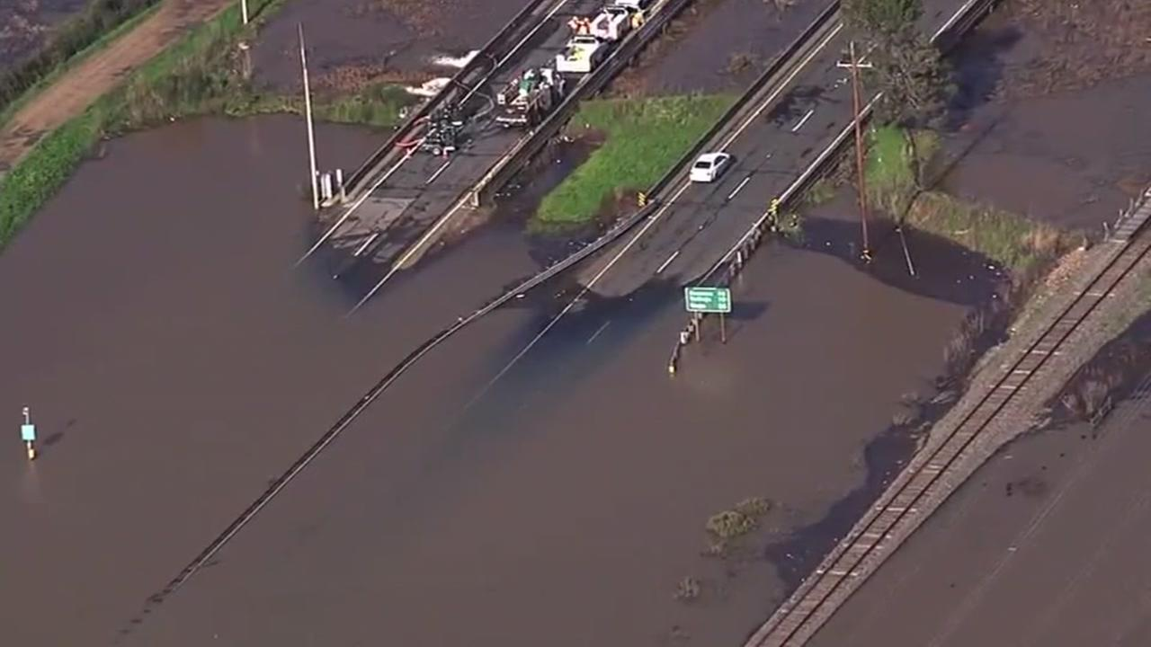 Highway 37 reopened in Novato after flood repairs