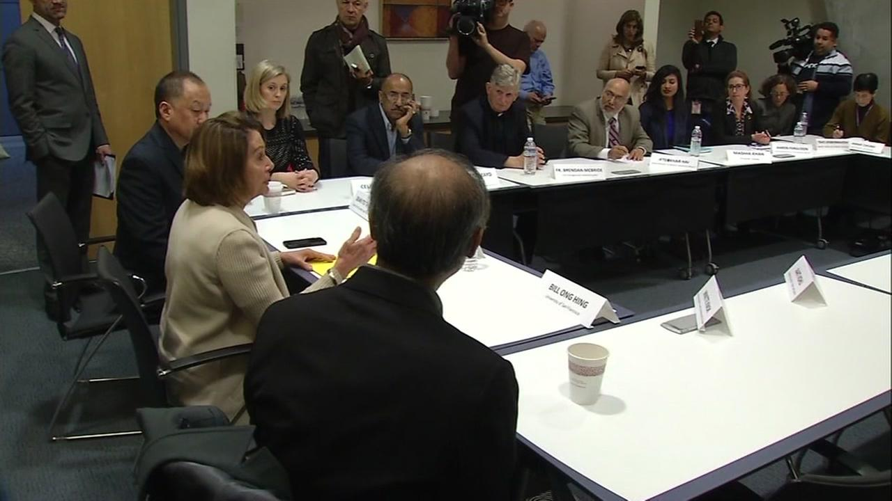 Nancy Pelosi meets with immigration advocates in San Francisco