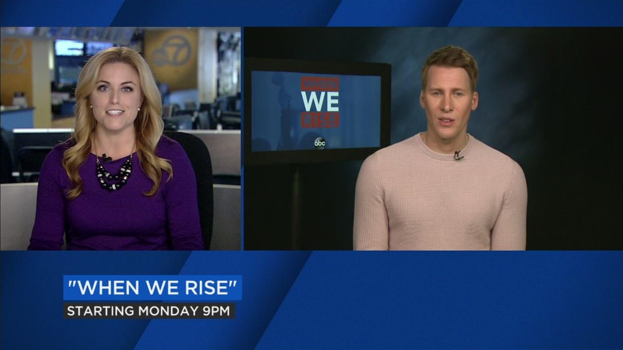 ABC7 News reporter Alexis Smith (Left) and (right) When We Rise creator Dustin Lance Black.