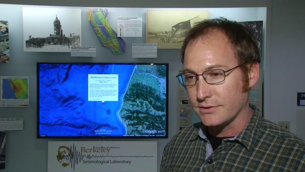 UC Berkeley Seismology Labs Chris Johnson discusses the possible connection between weather and seismic activity on Monday, Feb. 27, 2017 in Berkeley, Calif.