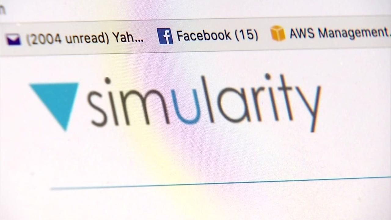The website of a software company called Simularity located in Richmond, Calif. is seen in this undated image.