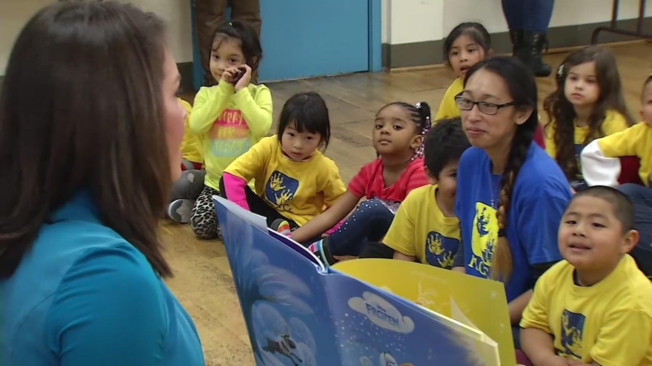 ABC7s Jessica Castro is seen reading to children in this undated image.