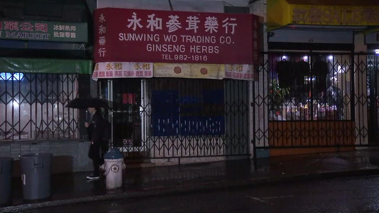 Sunwing Wo Trading Companys storefront appears in San Francisco on March, 20, 2017.
