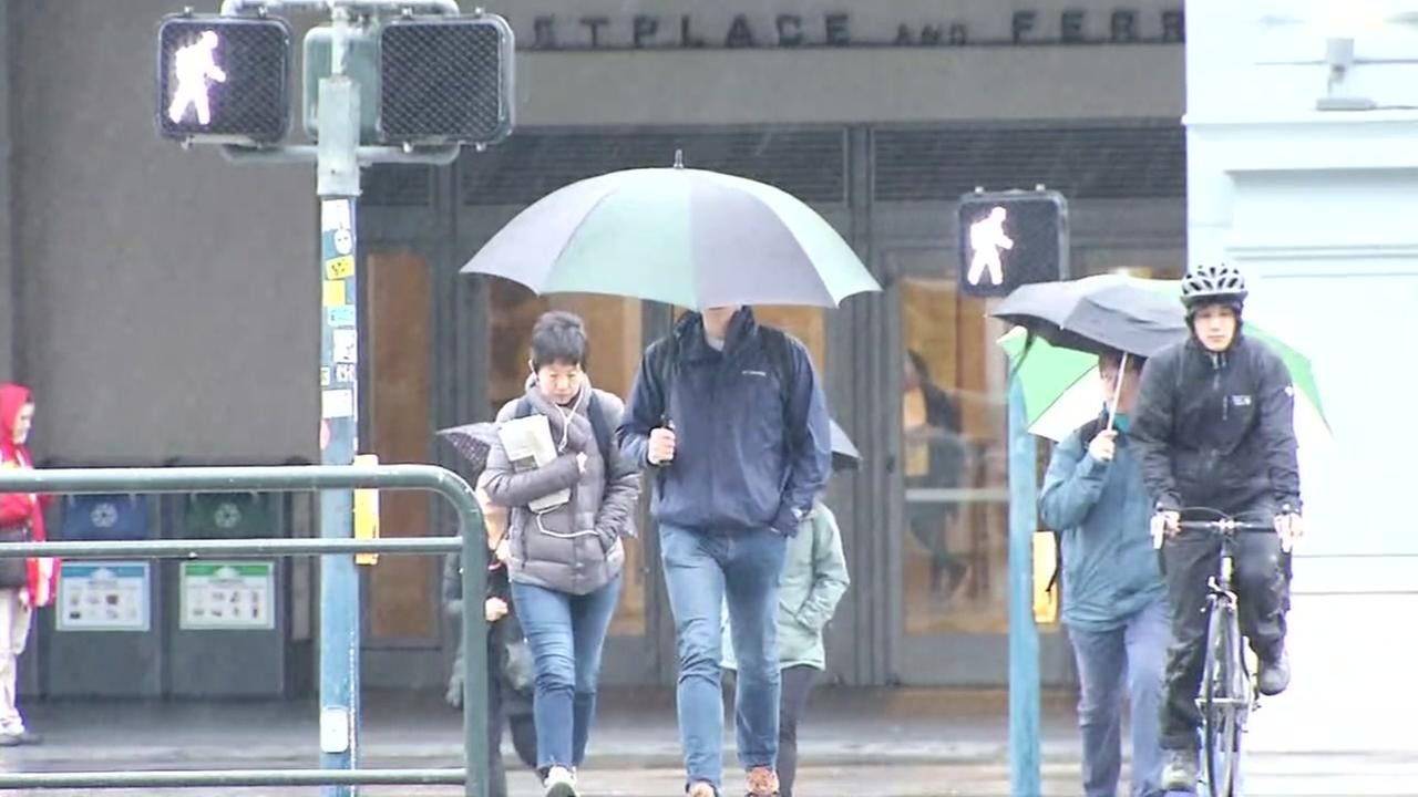 San Francisco gets drenched by spring showers