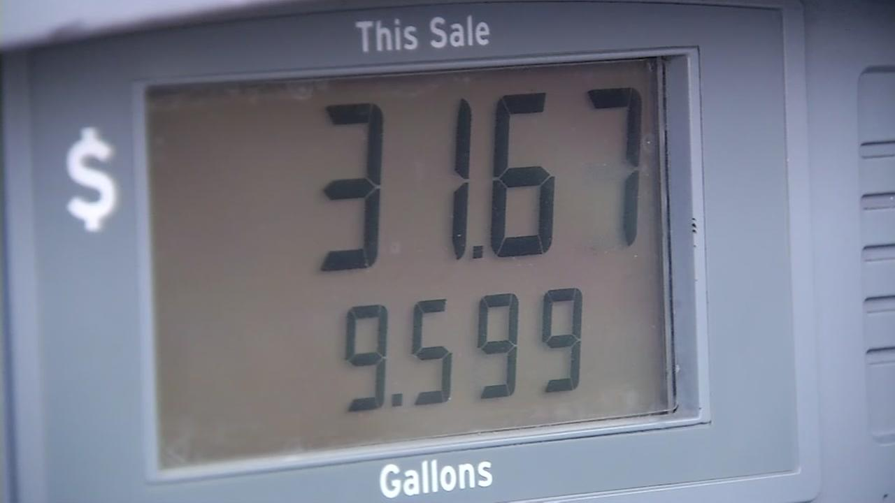 This is an undated image of the screen on a gas pump.