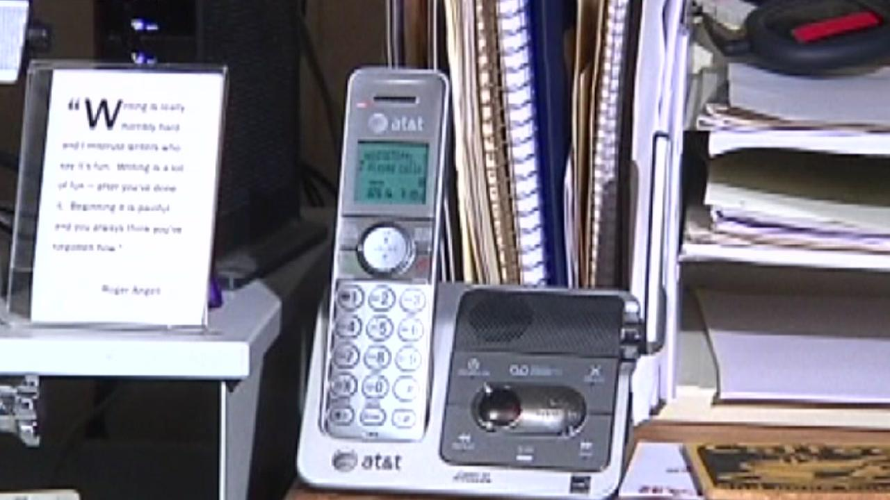A phone sits in the household of a consumer who is concerned about scam phone calls in this undated photo.