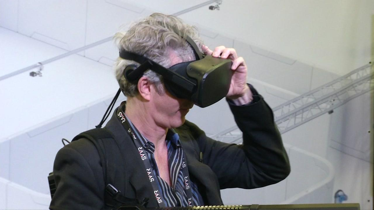 Virtual reality goggles are tried on at the SIlicon Valley VR Conference in San Jose, Calif. on Friday, March 31, 2017.