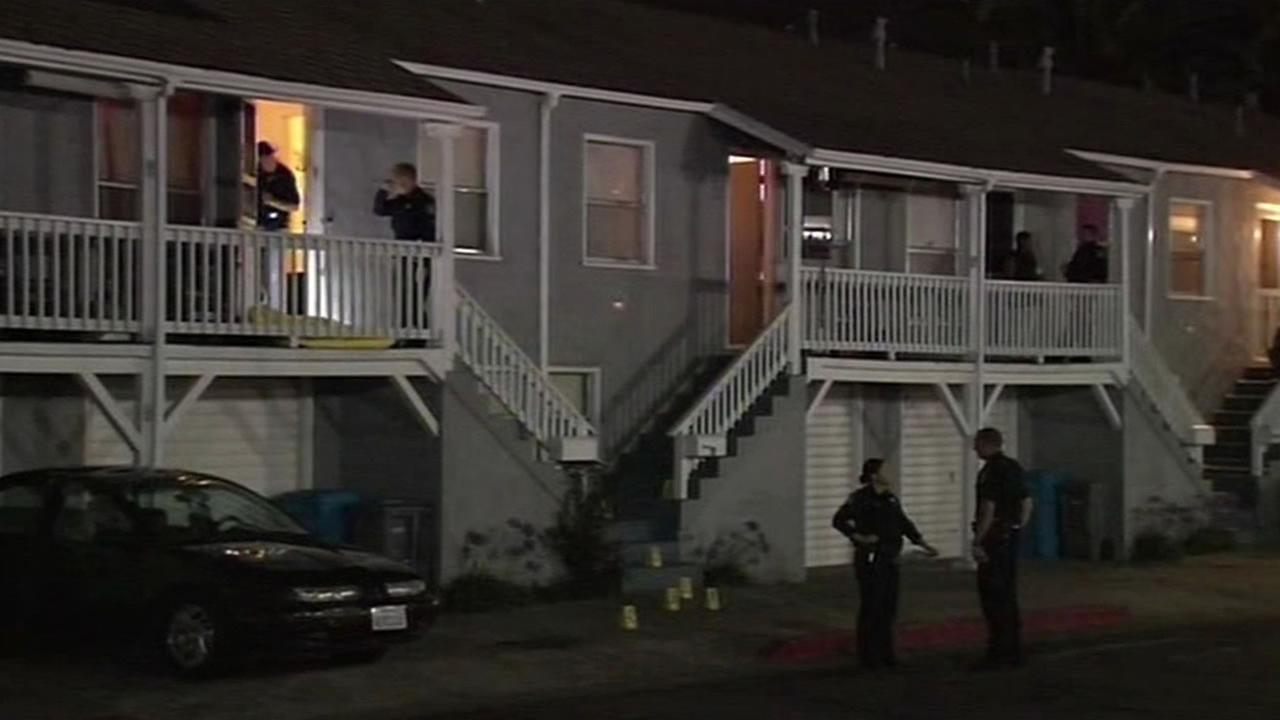 A woman was shot and killed in a Mare Islad apartment complex. Police have arrested a neighbor.