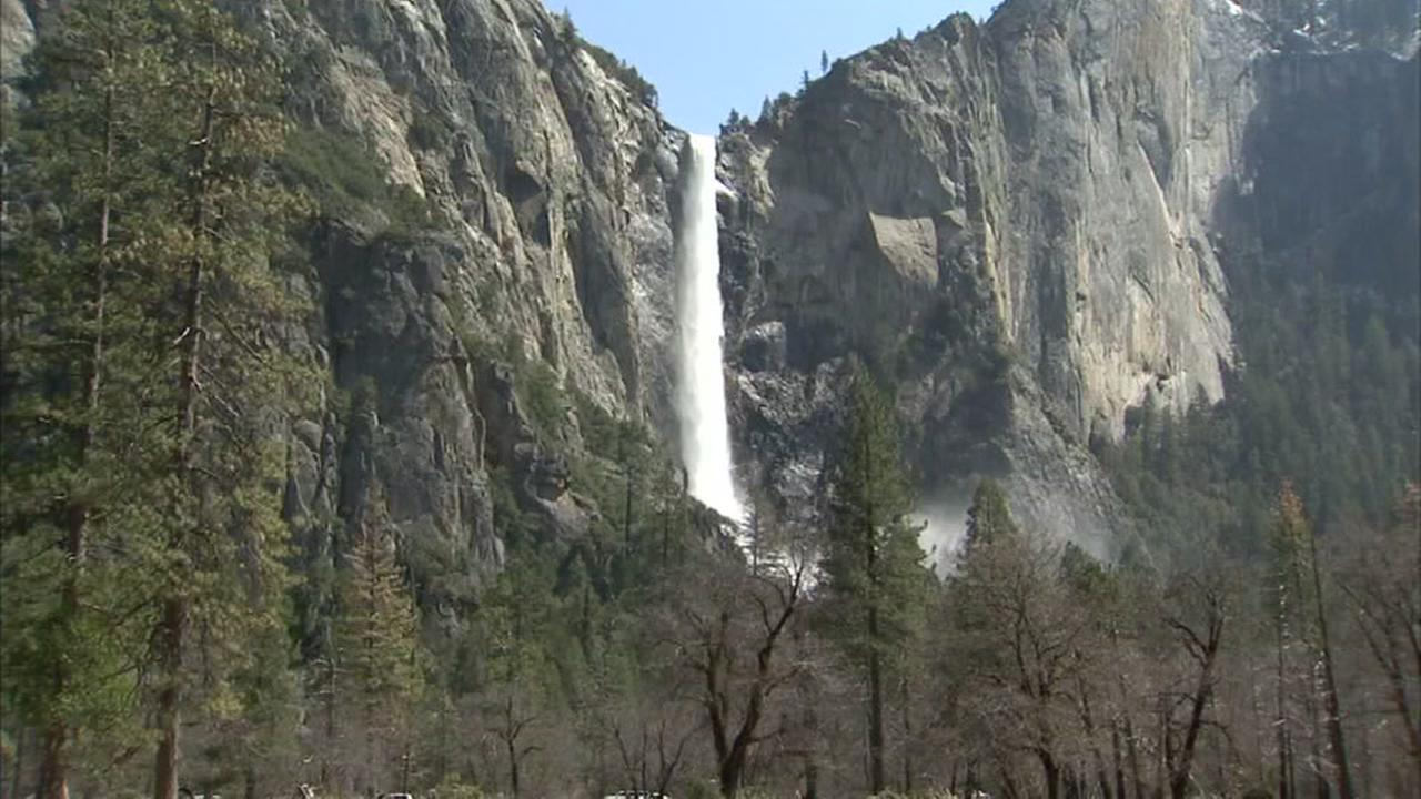 A waterfall at Yosemite National Park in California is seen in this undated image.