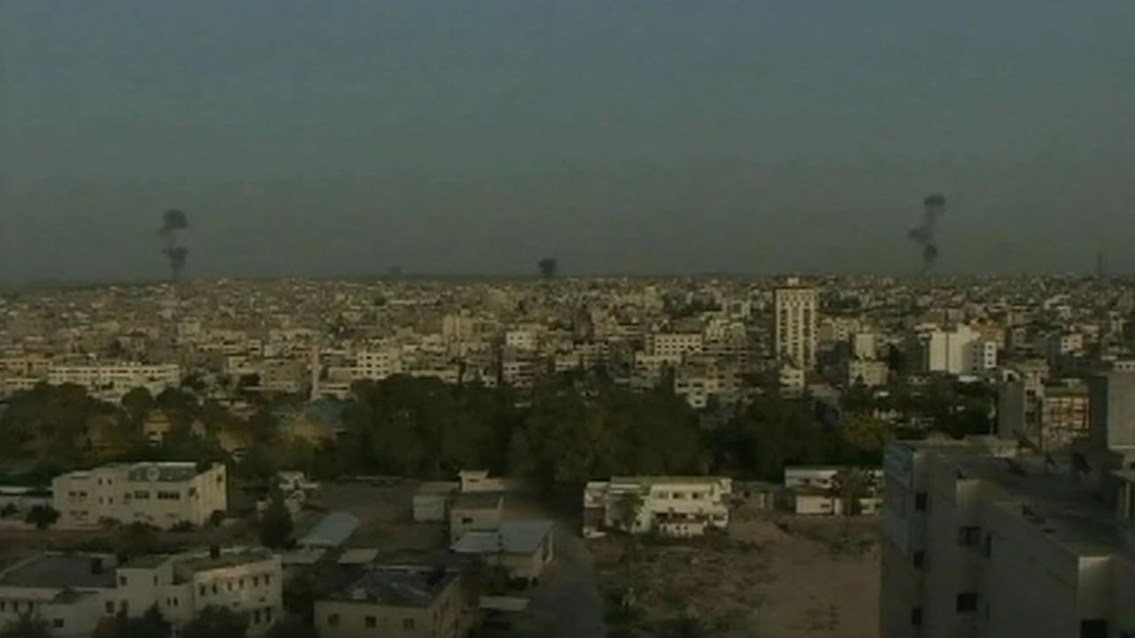 bombing in the Gaza Strip