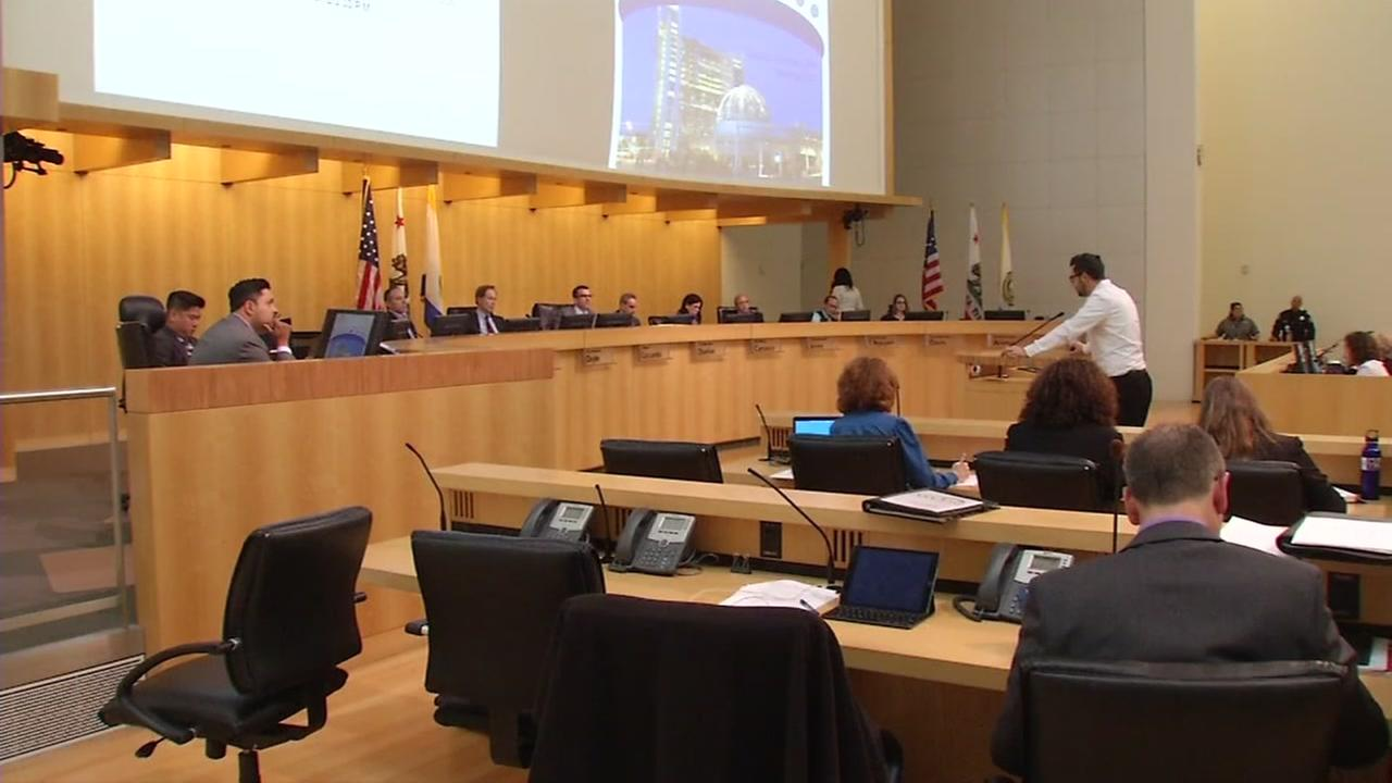 The San Jose City Council is seen on Tuesday, April 18, 2017.