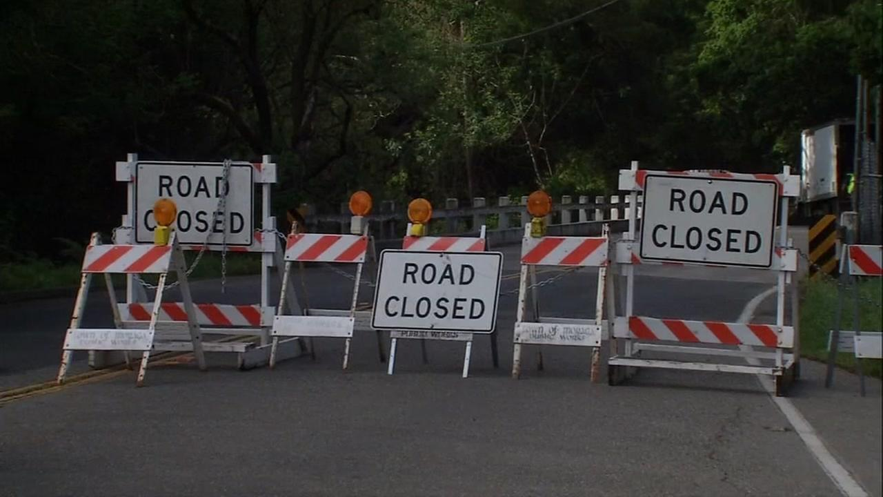 Landslide closes Canyon Road in Moraga indefinitely