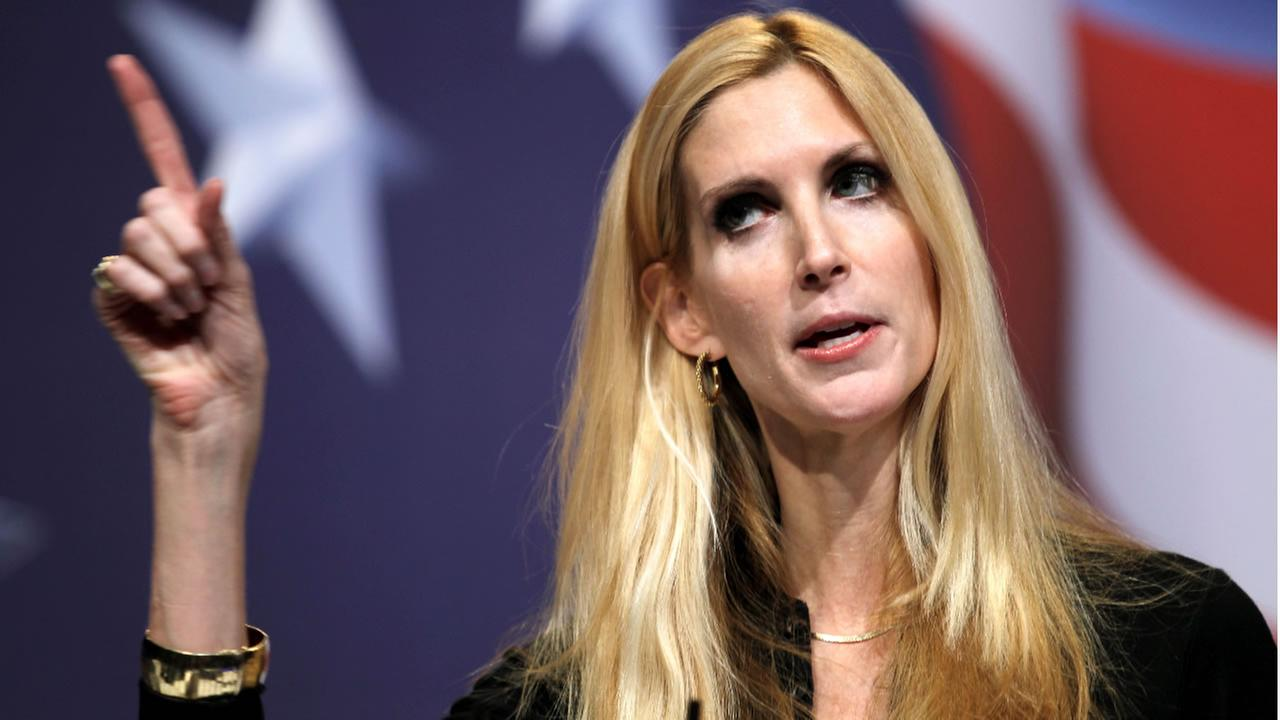 Conservative author Ann Coulter addresses the Conservative Political Action Conference (CPAC) in Washington on Saturday Feb. 20,2010. (AP Photo/Jose Luis Magana)