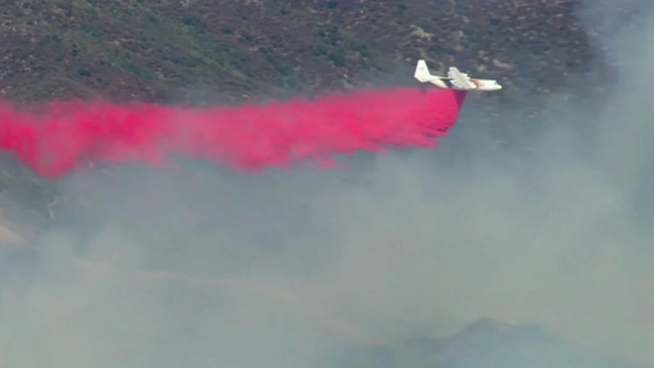 This is an undated image of a plane used to fight fires.