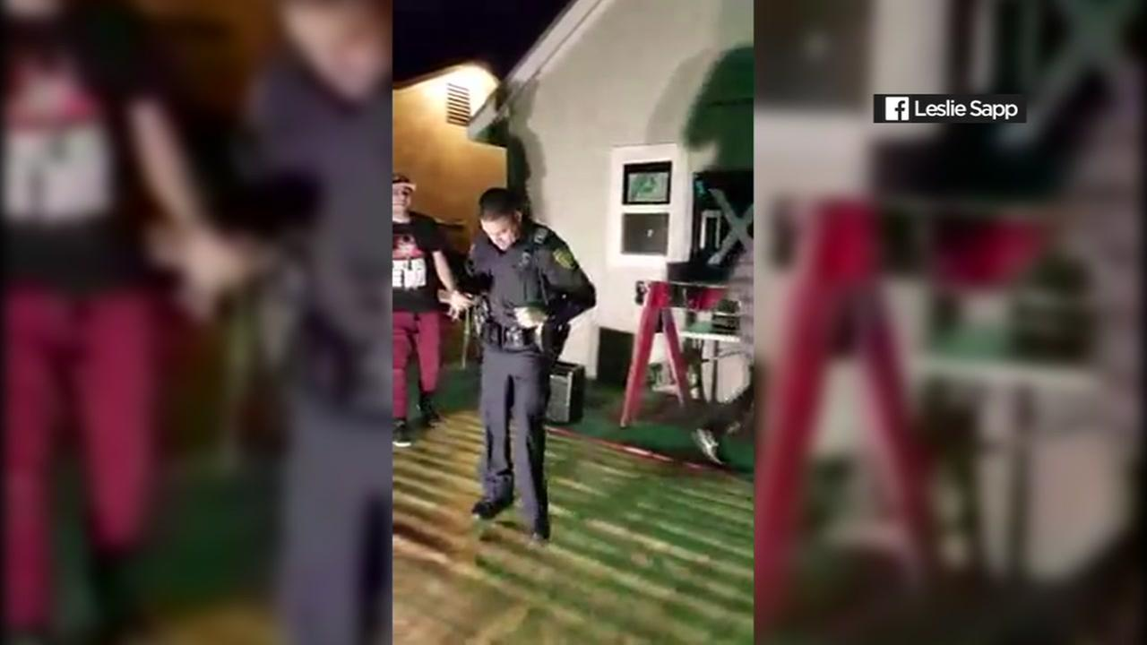 Officer dances in Texas